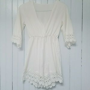 Dresses & Skirts - 😇Angelic white romper😇